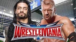 Roman Reigns Vs Triple H Wrestlemania Highlights