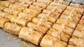 حلويات رمضان /البقلاوة التركية الملفوفة بلمسة مغربية روعة روعة روعة وتستحق التجربة بالفعل