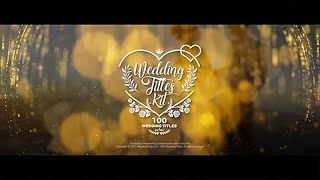 Wedding Titles Kit - 100 Titles ( After Effects Project Files ) ★ AE Templates
