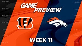 Cincinnati Bengals vs. Denver Broncos | NFL Week 11 Game Preview | NFL Playbook