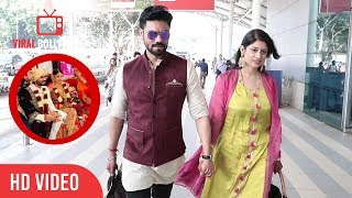 Newly Married Couple Gaurav Chopra And Wife Hitisha Spotted At Domestic Airport Mumbai