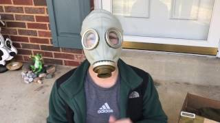 GP-5 gas mask unboxing