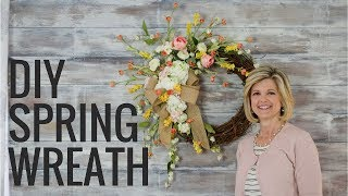 Easy DIY Spring Wreath|How to Make a Wreath