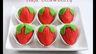 Kaju strawberry,  kaju sweet,  Diwali special sweets