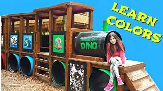 BABY LEARN COLORS with Train Wagons for Toddlers, Children and Babies - Adventure Park for Kids