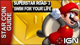 New Super Mario Bros. U 3 Star Coin Walkthrough - Superstar Road-3: Swim for Your Life