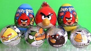 NEW Angry Birds Surprise Eggs Review by Disneycollector Chocolate Sorpresa Huevos!