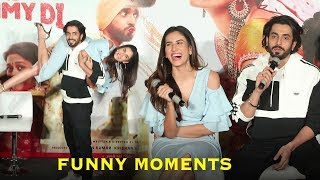 Sunny Singh & Sonnalli Seygall BACK TO BACK FUNNY MOMENTS At Jai Mummy Di Trailer Launch