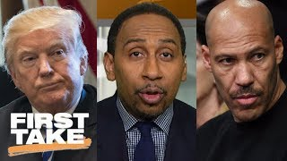 Stephen A. reacts to President Trump calling LaVar Ball an