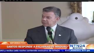Juan Manuel Santos le responde a Maduro: