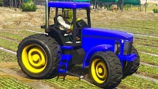 #трактор Мультики про синий трактор Шрек Спасает Синий Трактор песенки для детей #машинки