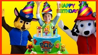 PAW PATROL Birthday Party in REAL LIFE Nickelodeon Opening Presents Surprise Toys PAW PATROL Videos
