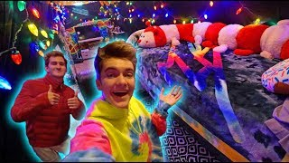 COOLEST ATTIC EVER OVERNIGHT CHALLENGE! *FREEZING*