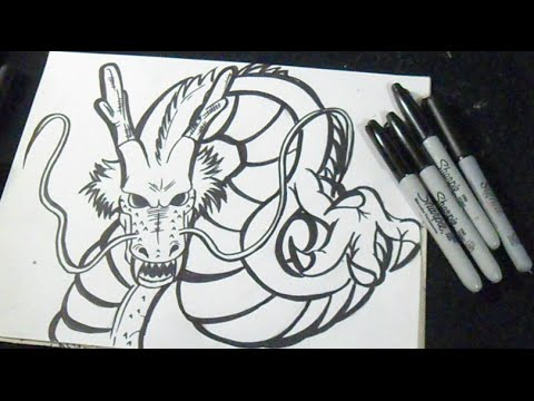 comment dessiner dragon Shenron Dragon Ball z