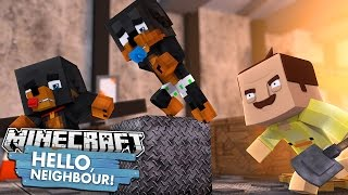 Minecraft HELLO NEIGHBOUR - BABY DUCK TURNS INTO THE NEIGHBOUR - Donut the Dog Minecraft Roleplay