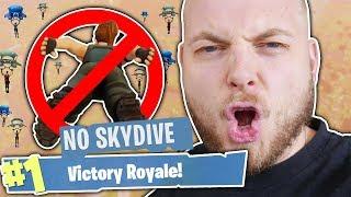 NO SKYDIVING CHALLENGE!! - FORTNITE BATTLE ROYALE!!