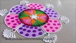 Innovative and Beautiful Multicolored Rangoli Designs  Creative Rangoli by Shital Mahajan.