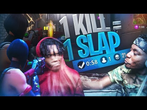 1 KILL 1 SLAP TO THE FACE FORTNITE w SAVAGE FRIEND FORTNITE BATTLE ROYALE GONE WRONG