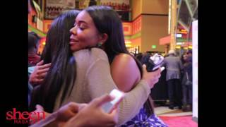 Monique, Gabrielle Union, Towanda Braxton, Danny Glover at Almost Christmas Red Carpet Premiere