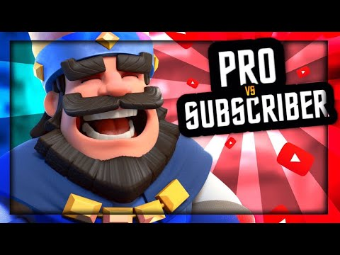 CAN MY SUBSCRIBERS BEAT A CLASH ROYALE PRO!?!?