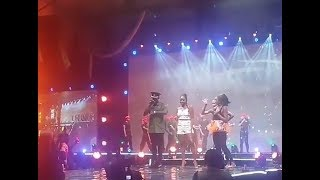THE FALZ EXPERIENCE: FALZ PERFORMS WITH DAVIDO. ROCKS MILITARY UNIFORM TO PERFORM WITH SIMI.