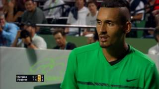 Nick Kyrgios ANGRY against the public - Semifinal Master 1000 Miami 2017