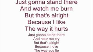 Eminem feat Rihanna - Love The Way You Lie (Lyrics on screen)
