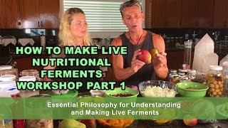 How To Make Live Nutritional Ferments Part 1 | Lecture | Dr. Robert Cassar