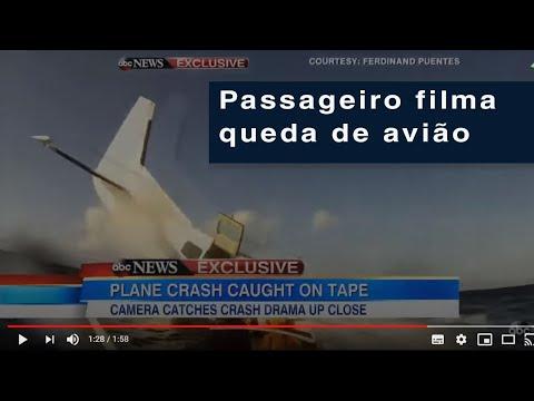 FILMOU A PRÓPRIA QUEDA NO AVIÃO imagens internas