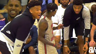 The GREEK FREAK Watches Brandon Jennings GO CRAZY VS Nick Young at THE DREW! TUFF CROWD VS MHP