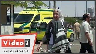 الحزن يخيم على أهالى مفقودى الطائرة المصرية بمطار القاهرة