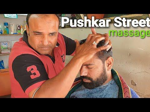 Xxx Mp4 Pushkar Street Head Massage Back Foot Thai Massage With Neck Cracking By Indianbarber ASMR 3gp Sex