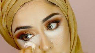 TRENDING MAROON BROWN EYE MAKEUP GRWM ماكياج العربي