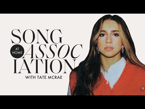 Tate McRae Sings Bruno Mars Bebe Rexha & you broke me first in a Game of Song Association ELLE