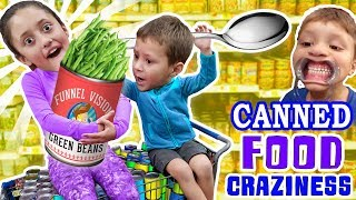 LEXI LOVES CANNED FOODS + Mouthguard, Funny Upside Faces & Food Coloring Mess FUNnel Vision