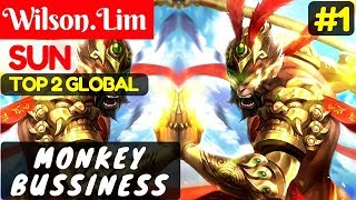 Monkey Bussiness [Top Global 2 Sun] | Wilson.Lim Sun  Gameplay and Build #1 Mobile Legends