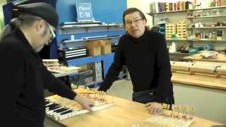 Mécanisme Bosendorfer à l'atelier Piano EW
