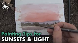 How to Paint a Dramatic Sky - Watercolor Sketch Tutorial