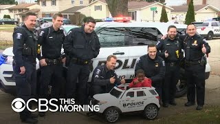 Officer Zeke: Michigan police department surprises boy with pint-sized cruiser