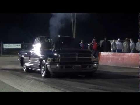 Monster Cummins turbo diesel truck drag racing Edgewater 2011