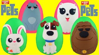 The Secret Life of Pets Play Doh Surprise Eggs Compilation - Max, Duke, Gidget, Snowball, Chloe Toys