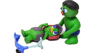 Baby Hulk Babies Friends Drive Party Kids Play Doh Animation Video Stop Motion Cartoon