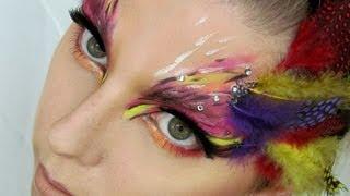 Ptačí Maska / Bird Mask Halloween Makeup Tutorial