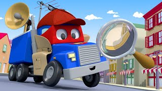 The DETECTIVE Truck Must- Find Lily the BUS! - Carl the Super Truck in Car City   Children Cartoons