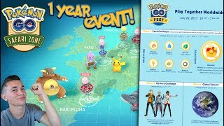 THE OFFICIAL 1 YEAR ANNIVERSARY GLOBAL POKEMON GO EVENT! + SPECIAL EVENT INFORMATION!
