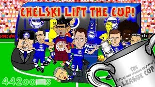🏆🚍CHELSEA - LEAGUE CUP WINNERS🚍🏆 (Chelsea vs Spurs Final 2-0 by 442oons Football Cartoon)