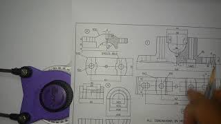Plummer Block manual drafting part 1