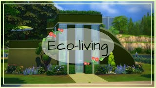 Eco-living | The Sims 4 speed build Solid Color Challenge
