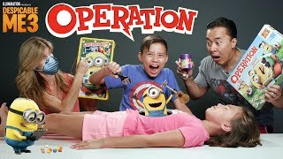 MINION OPERATION CHALLENGE!!! Despicable Me 3 Surgery with BEAN BOOZLED!