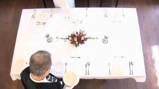 Tisch eindecken 5 Gänge Menü fachgerecht erlernen...  Andreas Muchow - Gastronomie-Fachschule